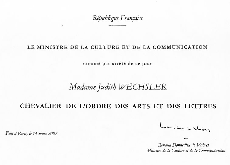the official decree from the French government