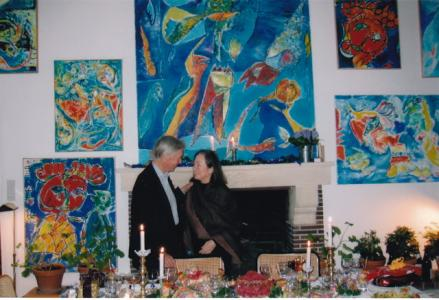 Judith Wechsler, 2004, with husband, Ben Snyder