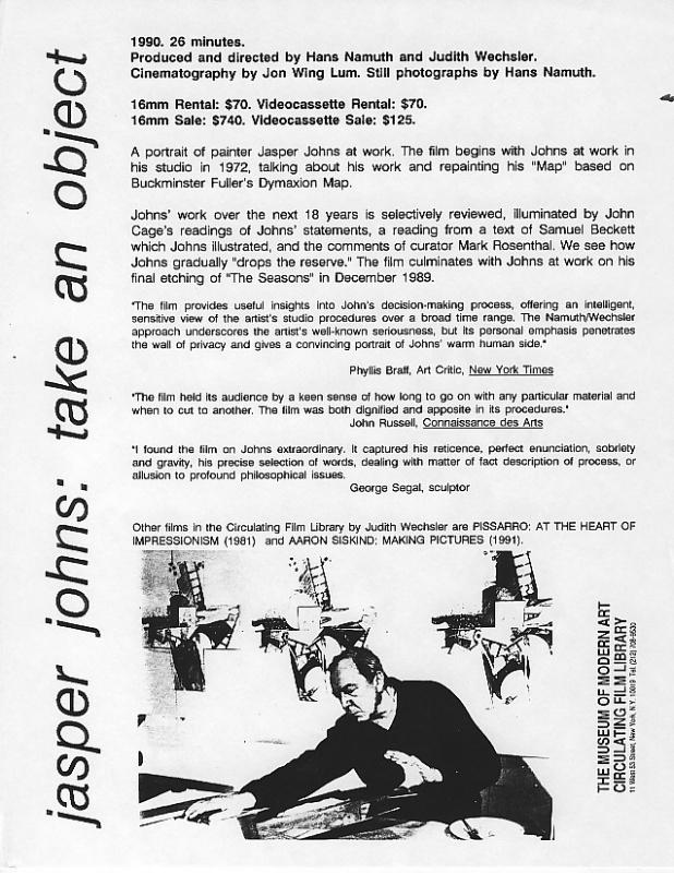 Jasper Johns: Take an Object | Judith Wechsler